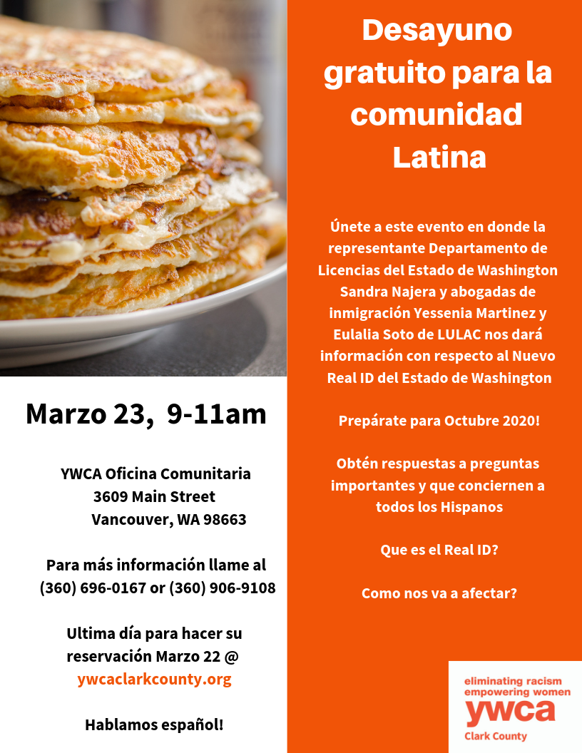 Real ID Desayuno Gratuito (The Real ID Breakfast) @ YWCA Clark County | Vancouver | Washington | United States