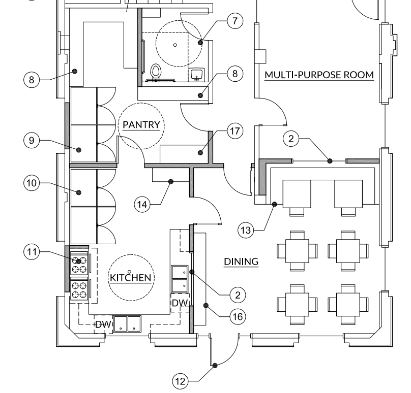 Part of the blueprints of the SafeChoice domestic violence emergency center renovation, thanks to the Vancouver Housing Authority.
