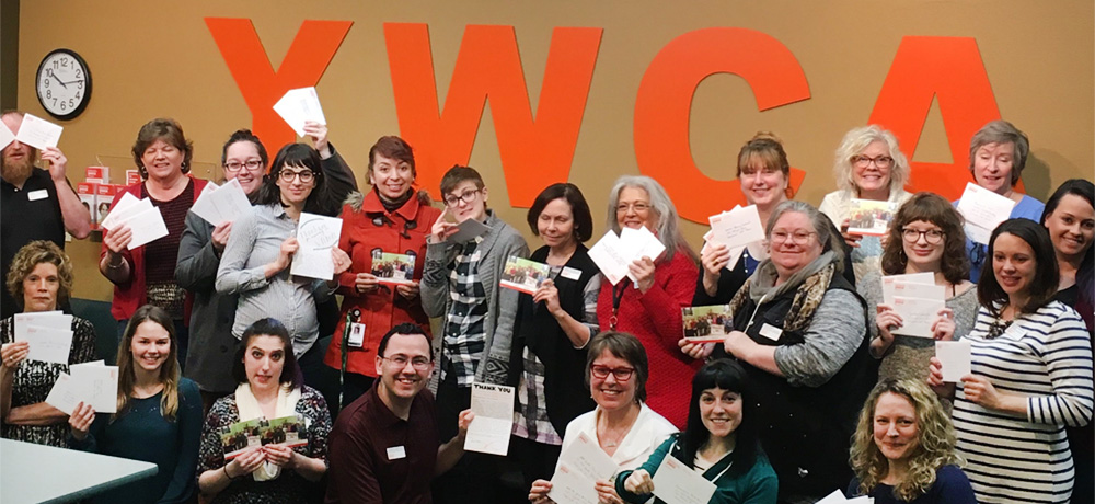 YWCA staff letter writing