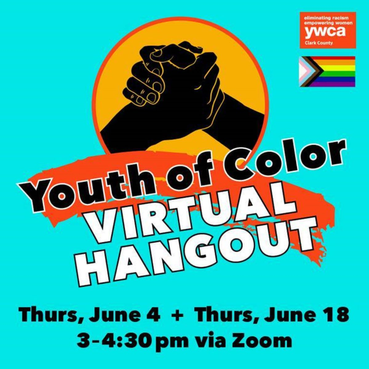 2020 Youth of Color Virtual Hangouts @ Choose your date(s) below!