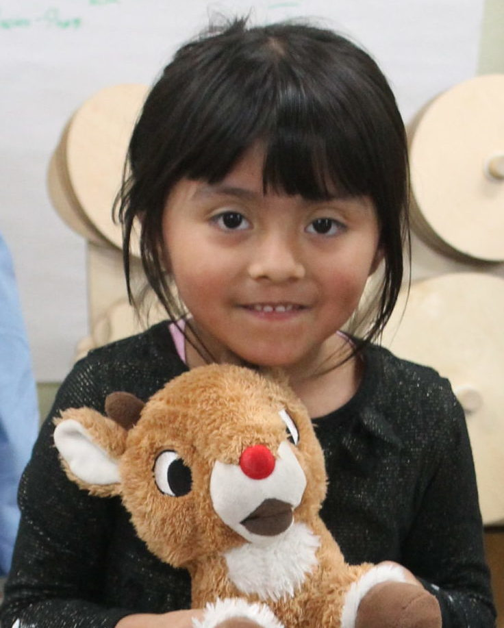 Ys Care student with teddy bear